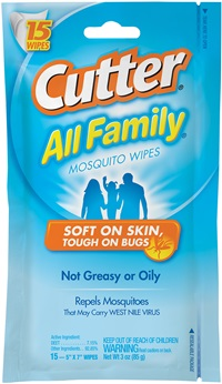 Cutter All Family® Mosquito Wipes
